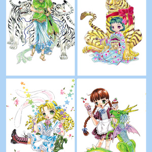 ポストカード(干支/子~巳はがき10枚)