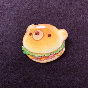 くまのハンバーガーブローチ