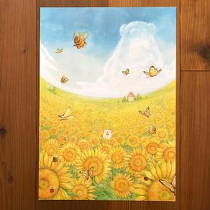 B4イラスト「くまわり畑」