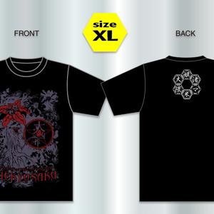 華とマンドレイクとひよこTシャツ【黒/XL】
