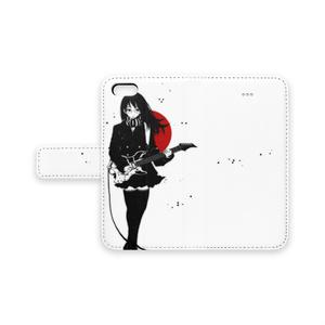 """手帳型iPhoneケース5/6/6+/7/7+(GuitarGirl"""" type-E"""")"""