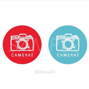 カメラ!ステッカー