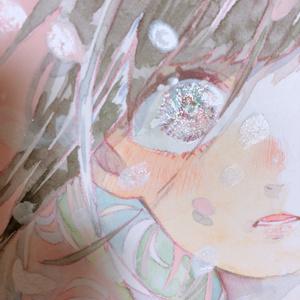 ミニ原画【ヒカリ、はらり】