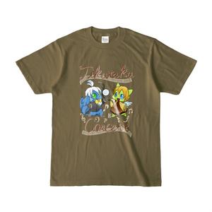 ちくたくTシャツシンフォニア オーブ&みにそっど オリーブ