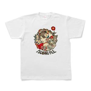 『ふくい*椿ファイル*』半袖Tシャツ(白)