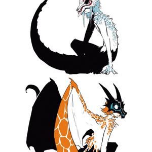 東洋竜さんと西洋竜さん(人型)