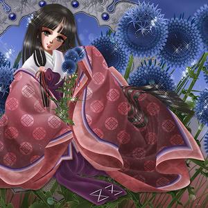 ポストカード「瑠璃珠の花」