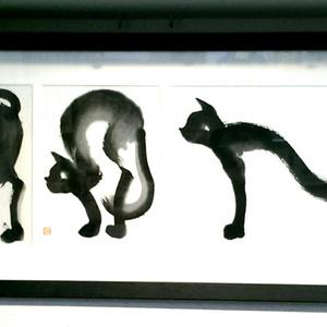 のび【猫の墨絵 原画】