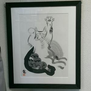 グーパー【猫の墨絵 原画】