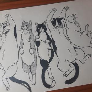FIVE 【直筆原画 私という猫 イラスト】