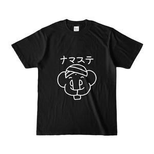 ナマステする象のTシャツ