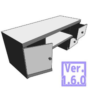 3D PCデスク(クリスタ1.6.0~コミスタ用)机 座卓