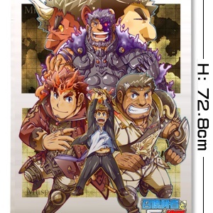 『召喚勇者とF系彼氏』 特製タペストリー1・ 勇者と仲間たち