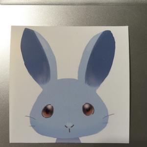 ひよわシール 水色うさぎバージョン(3枚セット)