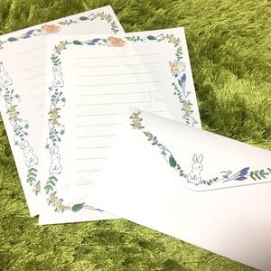 うさぎとお花のレターセット
