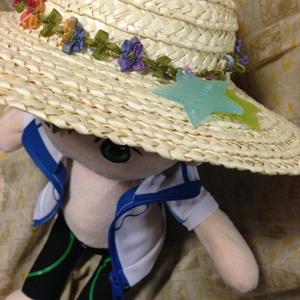ぬいぐるみ用麦わら帽子(大)