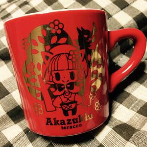 真っ赤な赤ずきんマグカップ