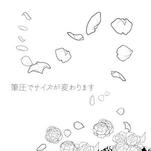 花びら散布 クリスタ用ブラシ