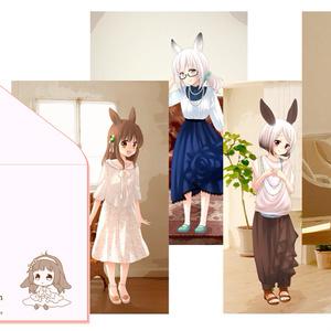 【goods】うさガールポストカード4枚セット