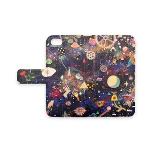 手帳型iPhoneケース / 夢中銀河