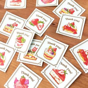 "Thank you seal ""StrawberryCakes""【35枚入り】"