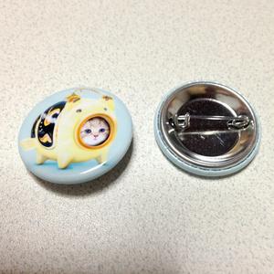 【雑貨】缶バッジ:かとりにゃんこう:こいのぼり