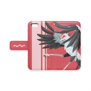 【手帳型iPhoneケース】ヘビクイワシのワルツ