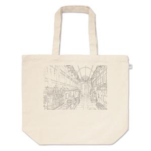 ヒカリの玄関線画 トートバッグ