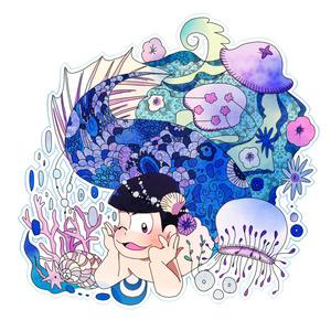 童話×六子アクリルキーホルダー カラ松(人魚姫)