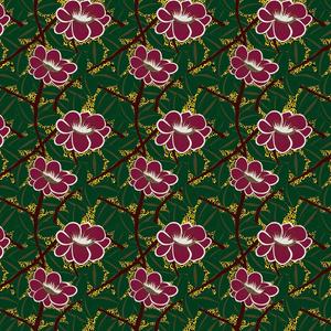花をモチーフにした季節のパターン装飾セット