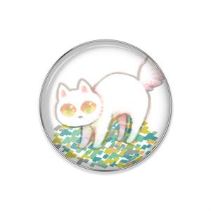 白猫ピンバッジ