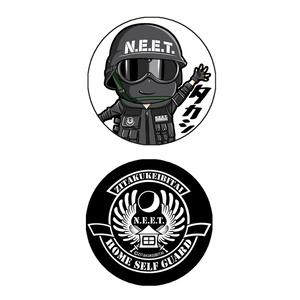 自宅警備隊キャラクター缶バッジ32mm・タカシ