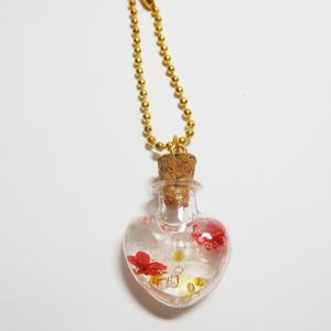 瓶詰めアクセサリー/赤/金
