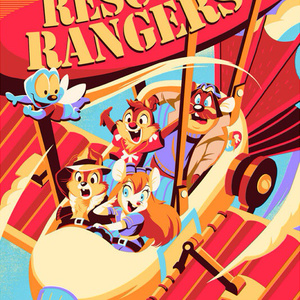 Chip & Dale RESCUE RANGERS PRINT【Cyclops Print Works】