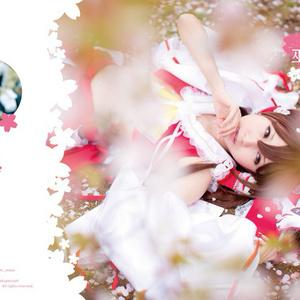 東方巫女桜(写真集とROMのセット)