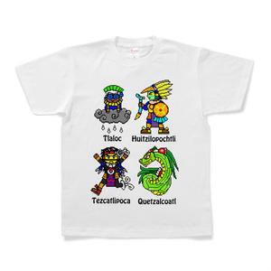 アステカ神ドット絵Tシャツ