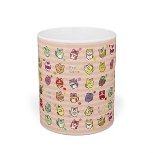 フルーツ猫 チラシ柄マグカップ