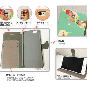 【送料無料/ iPhone6/6s/6Plus/6sPlus】オカメインコ 手帳型ケース