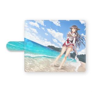 ひととき、静かな海で 手帳型Androidケース