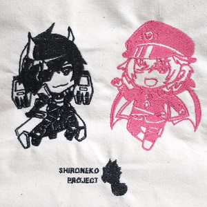 【白猫プロジェクト】温泉シャナオウ&温泉ゼロキス刺繍エコバッグ
