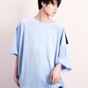 ベロアバイカラーTシャツ