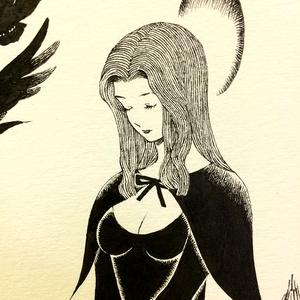 【ペン画販売】魔術師
