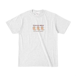つばさネコ-Tシャツ/アッシュ