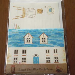 Letter Set Blue Roof Home