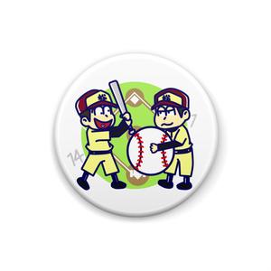おそ松さん 野球松(十四松&一松) カンバッジ