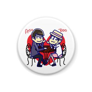おそ松さん あつトド 缶バッジ(カフェ)
