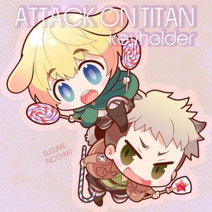 【進撃】アルミン+ジャンアクリルキーホルダー
