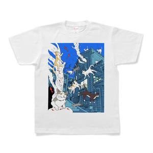 水中猫Tシャツ