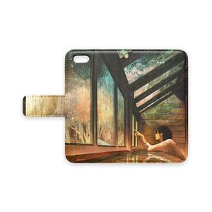 「色の降る日」手帳型iPhoneケース