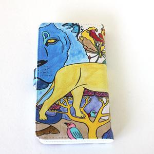 手帳型スマホケース「ライオン」 <受注製作>納期14日予定